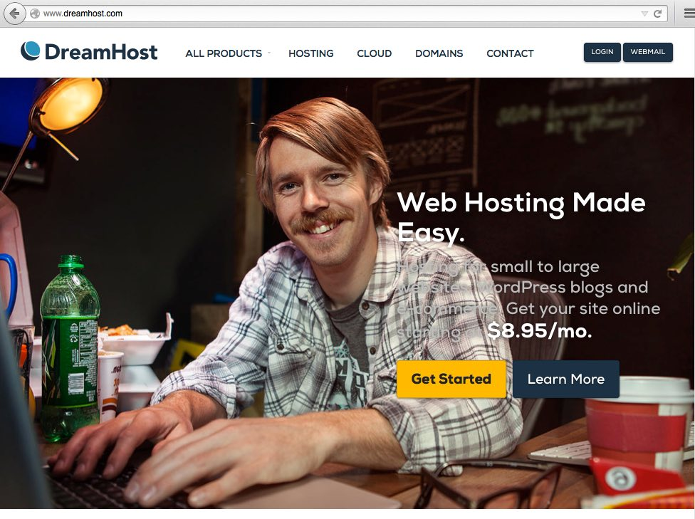 Dreamhost Landing Page